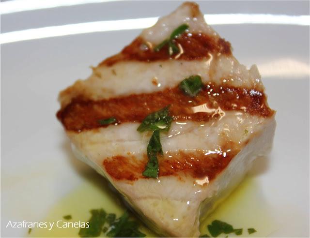 Taco de atún a la plancha