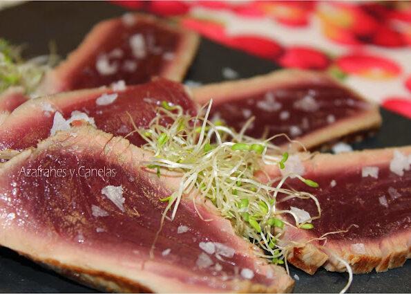 tataki de atún rojo